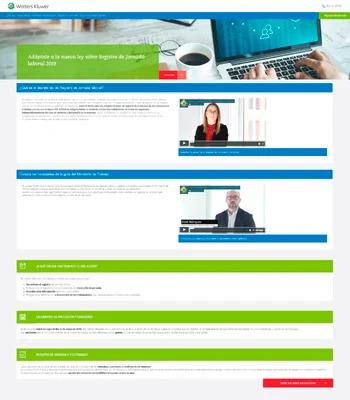 Web del Registro de Jornada Laboral