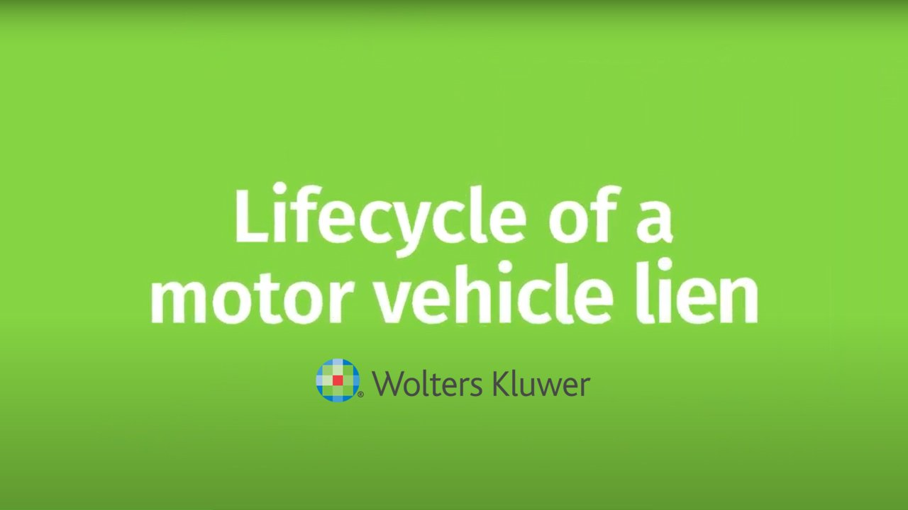 Lifecycle of a motor vehicle lien