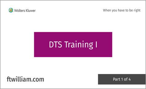 DTS Training I - Part 1 of 4