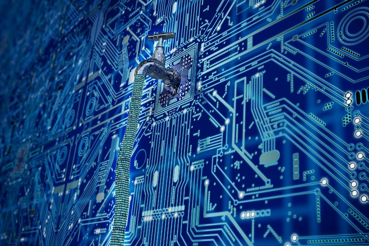 kraan waaruit digitale data lekt