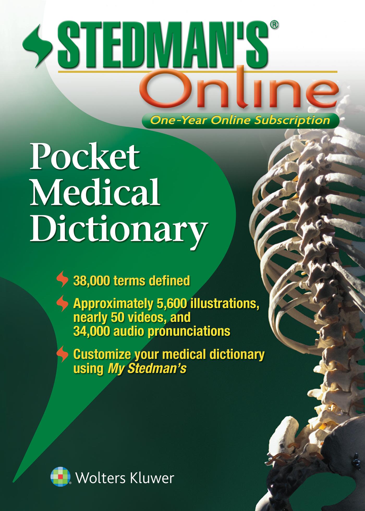 Stedman's Pocket Medical Dictionary book cover