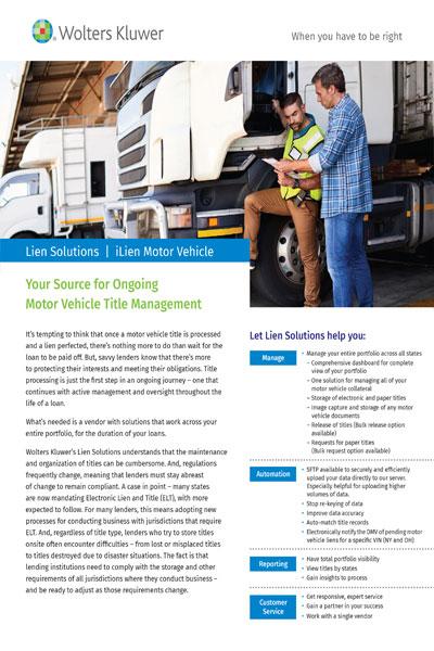 vehicle title management flyer