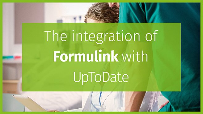 Screenshot of the integration of Formulink with UpToDate video