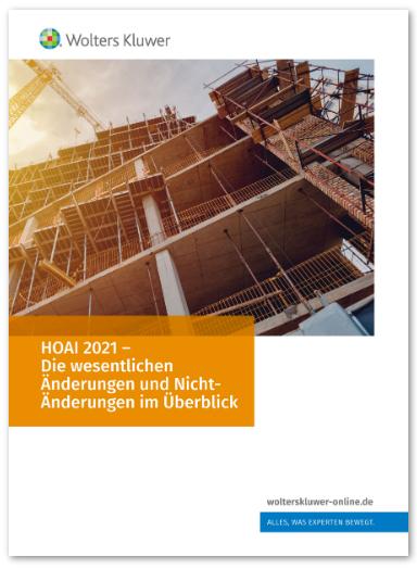 Whitepaper: Die neue HOAI 2021