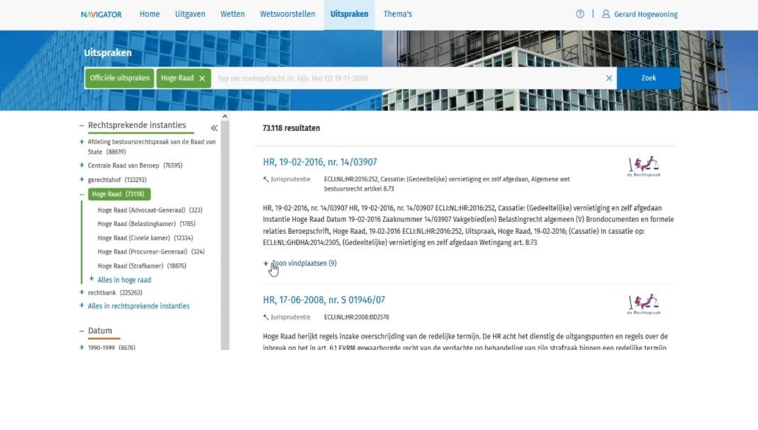 Screenshot Navigator optimaal gebruiken