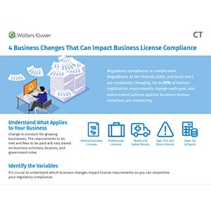 infographic on business changes that can impact license requirements