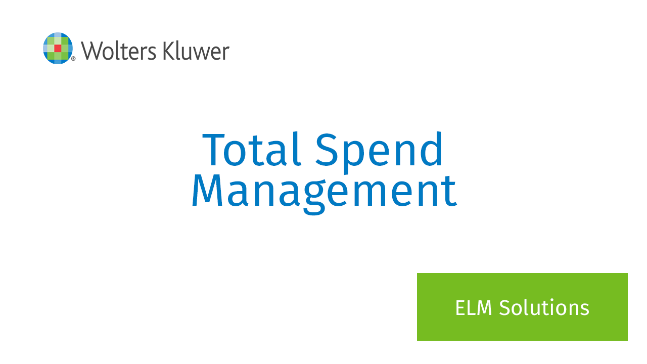 Master your legal spend with total spend management