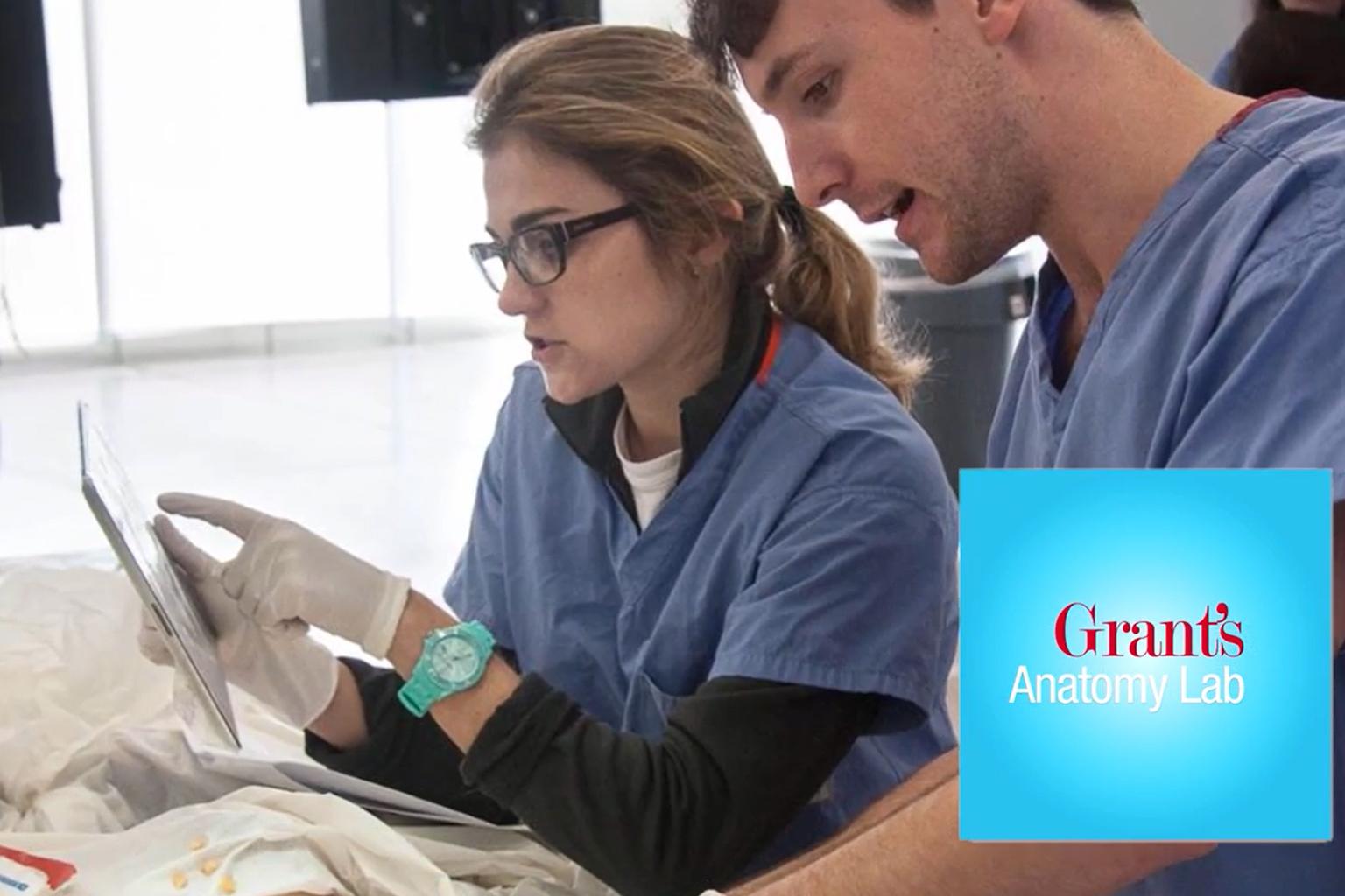 Screenshot from Grant's Anatomy Lab video