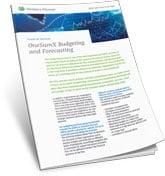 OneSumX Budgeting and Forecasting Product Sheet