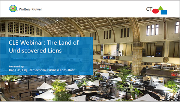 CLE Webinar: The Land of Undiscovered Liens