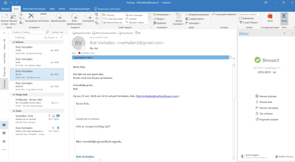 Voeg taken toe aan e-mails