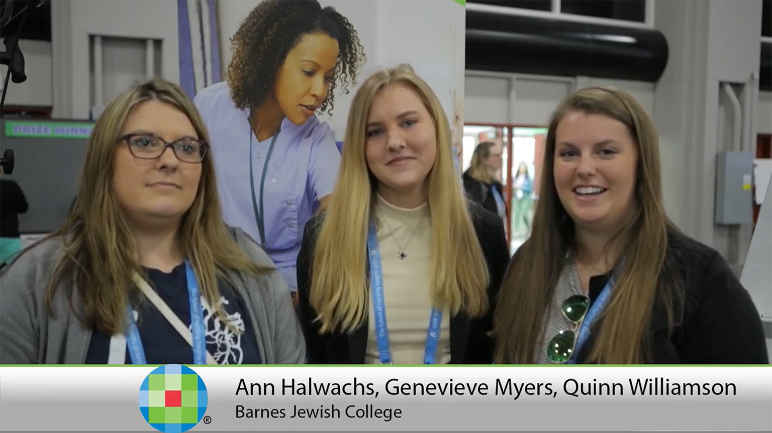 Screenshot of Lippincott PassPoint testimonial video of Ann Halwachs, Genevieve Myers, and Quinn Williamson