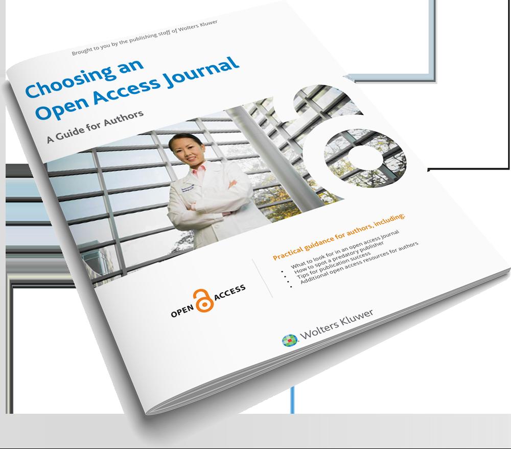 Cover of Choosing an Open Access Journal brochure