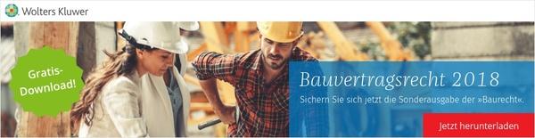 Banner Bauvertragsrecht 2018