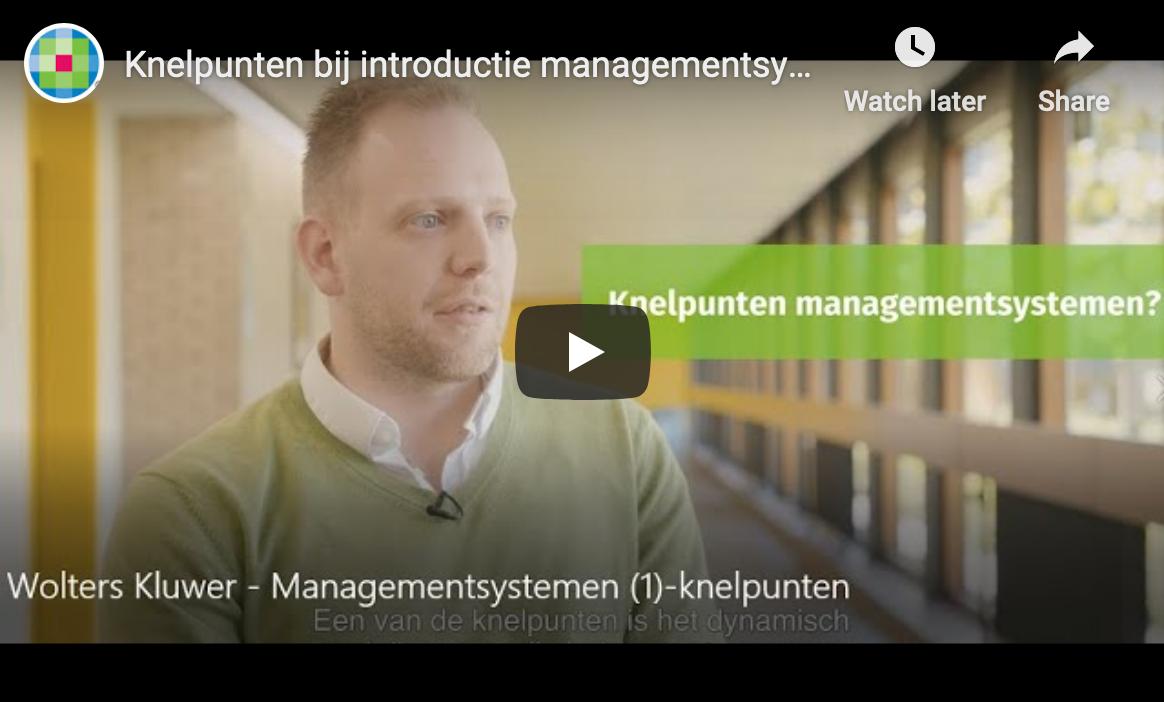 Knelpunten bij introductie van managementsystemen