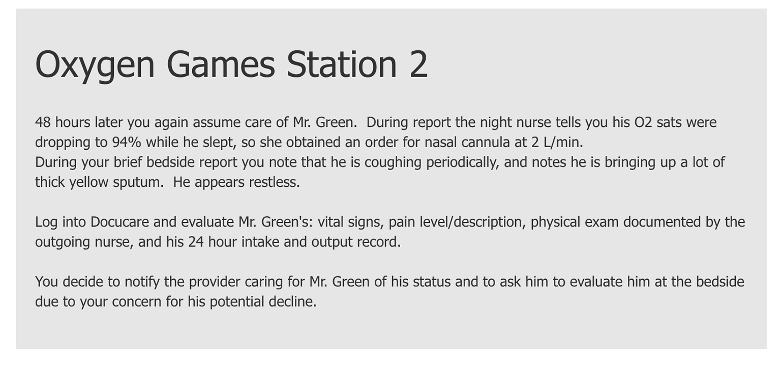 Screenshot 1 of oxygen games