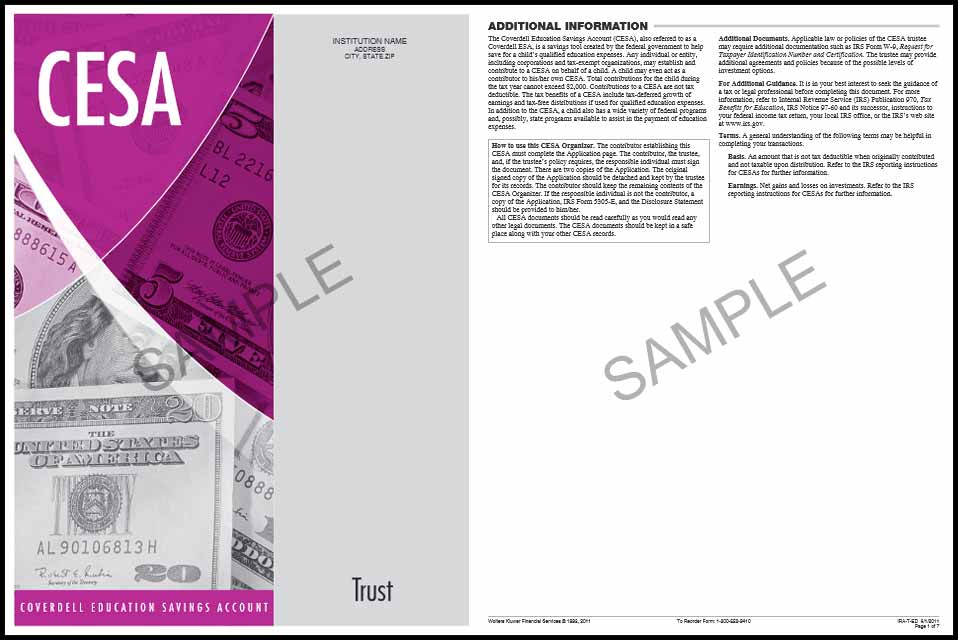 CESA Orangizer Trust Sample