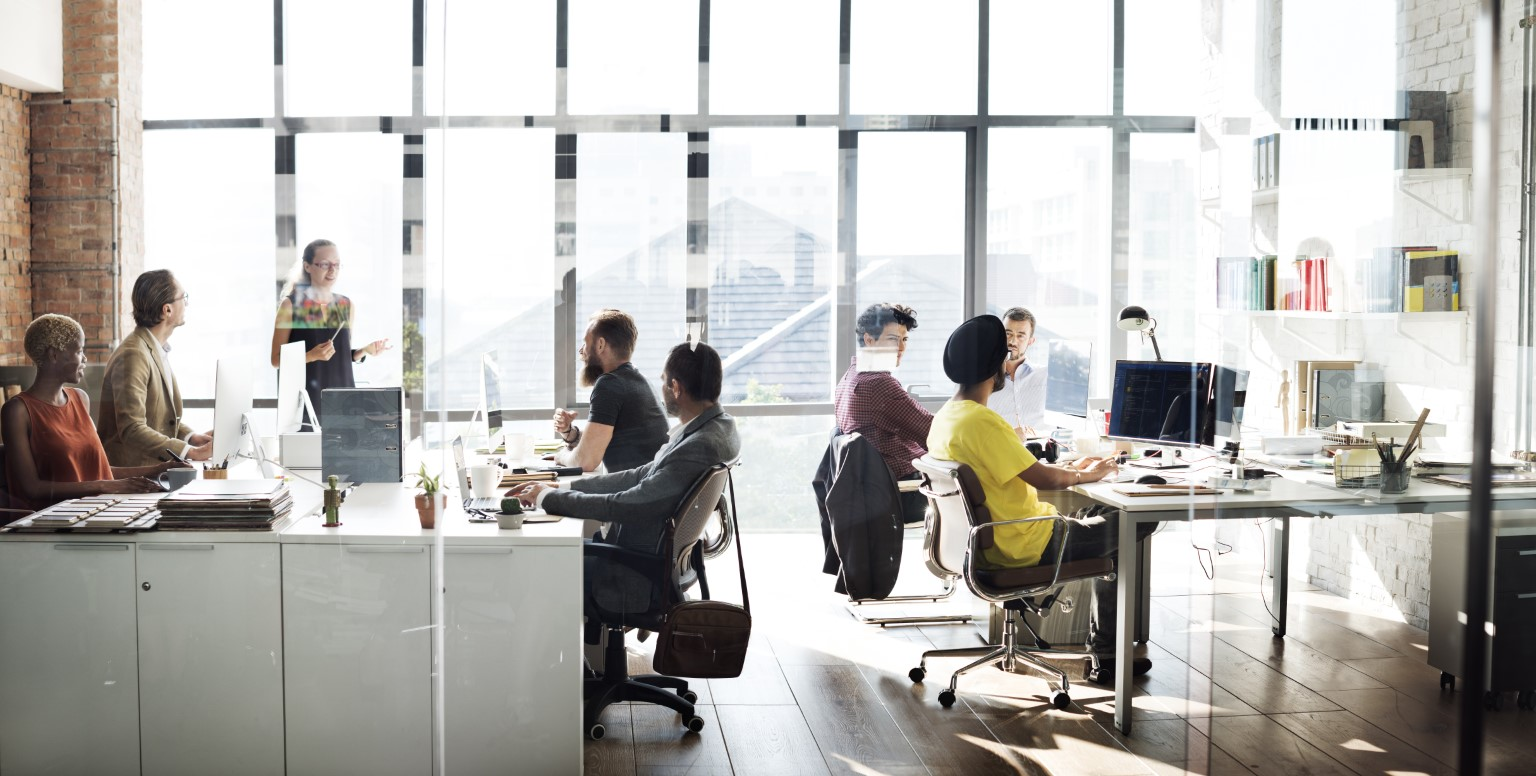 People in workspace