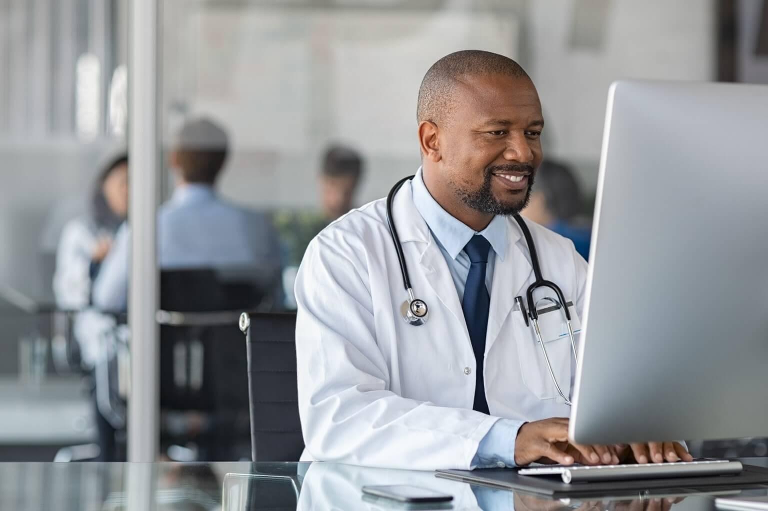 Doctor using EMR