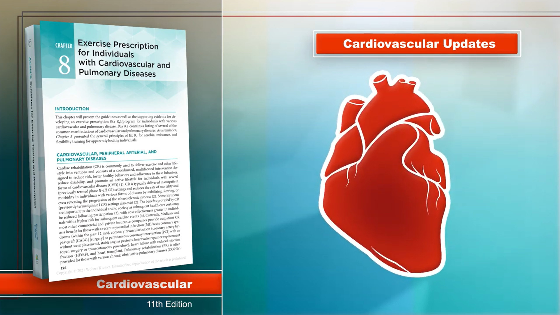 Screenshot of Cardiovascular updates to ACSM's Guidelines for Exercise Testing and Prescription, 11th Edition video