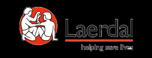 Laerdal, helping save lives logo