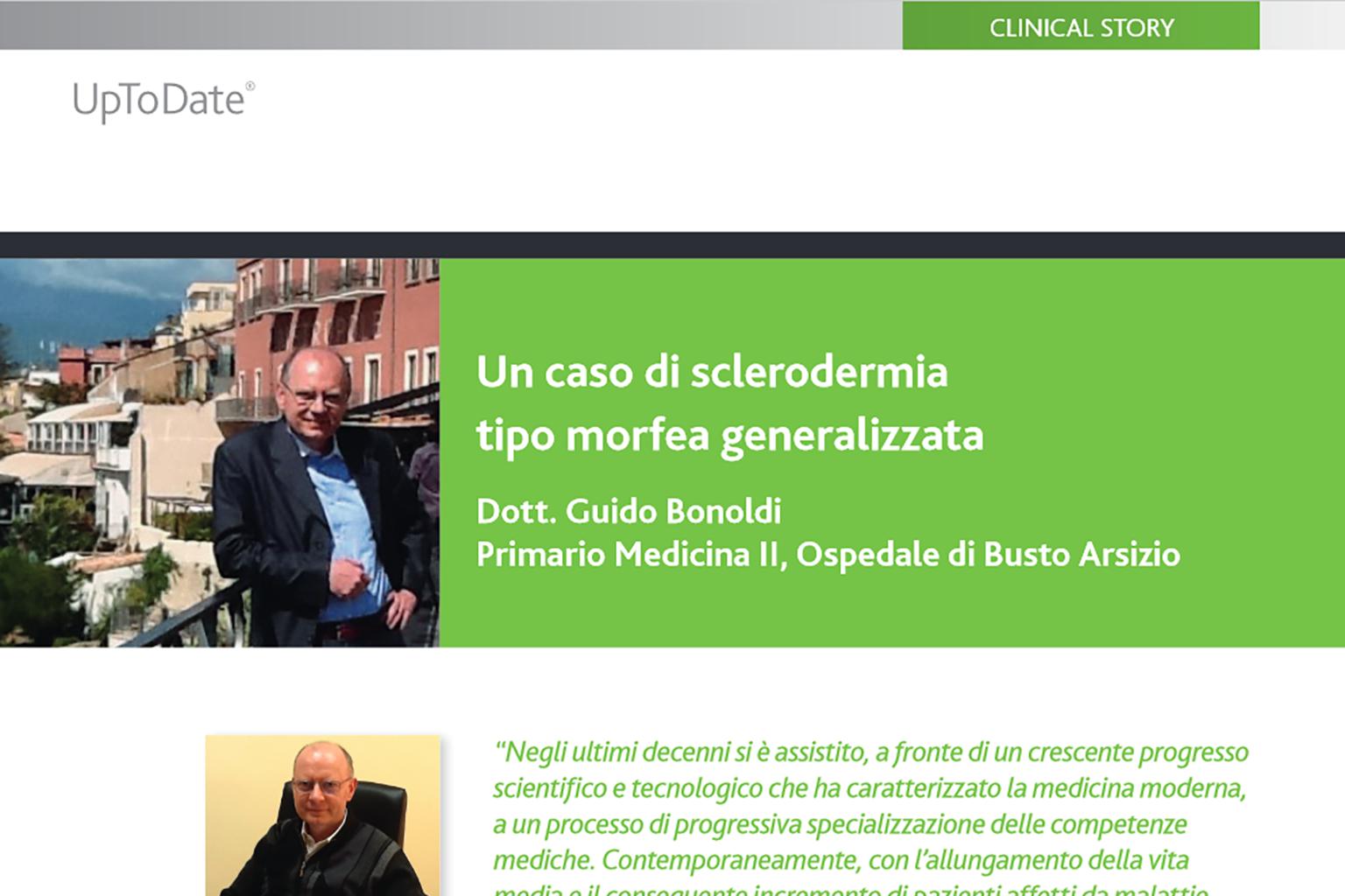 UpToDate Clinical Story: Un caso di sclerodermia tipo morfea generalizzata
