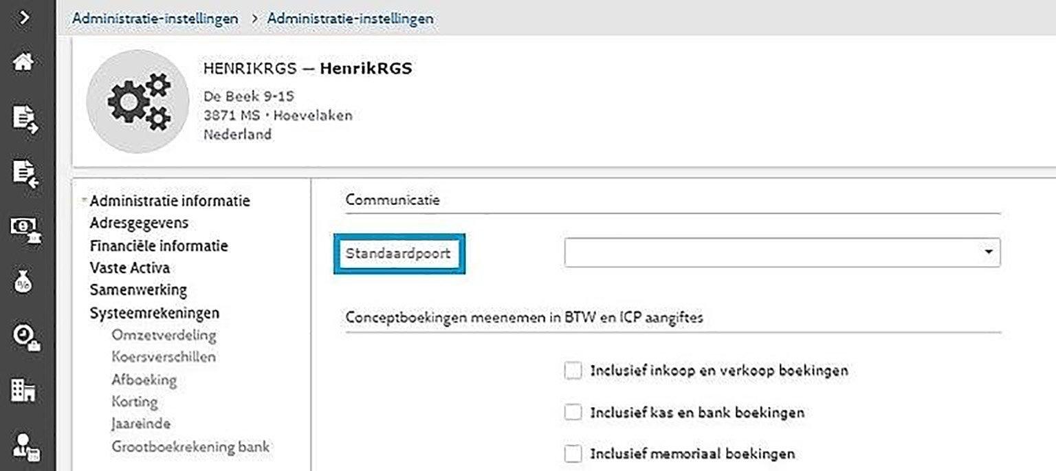 screenshot administratie instellingen btw-aangifte digipoort