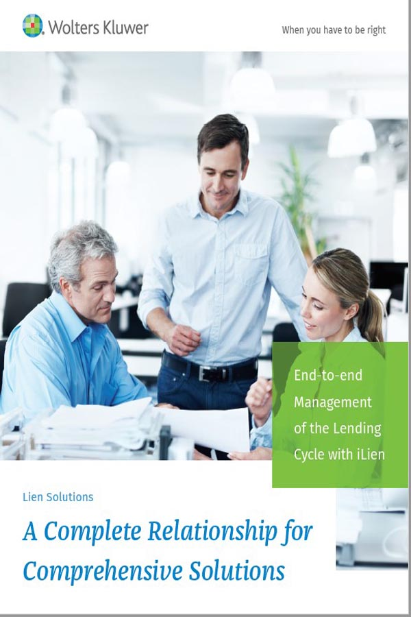 Lien Solutions core capabilities brochure cover page