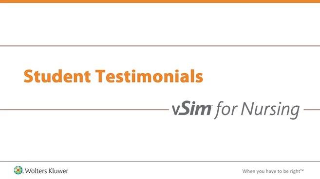 Screenshot of Student testimonials: vSim for Nursing video