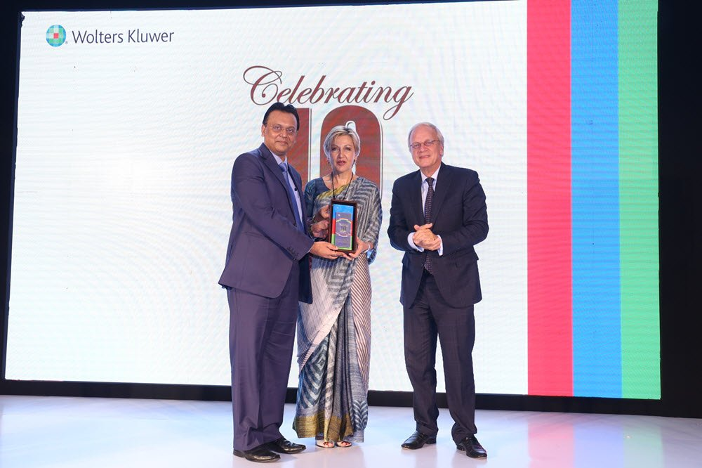 Mr. Shireesh Sahai, CEO Wolters Kluwer India, Corinne Saunders, CEO Wolters Kluwer Emerging & Developing Markets, H.E Mr. Alphonsus Stoelinga Ambassador of the Netherlands