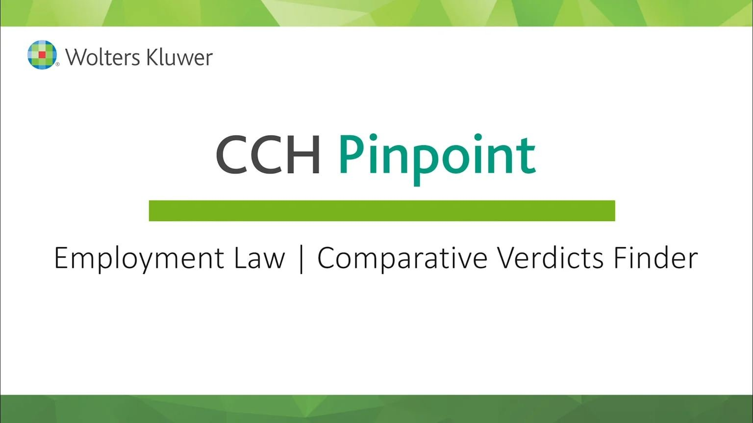 Employment Law Comparative Verdicts Finder