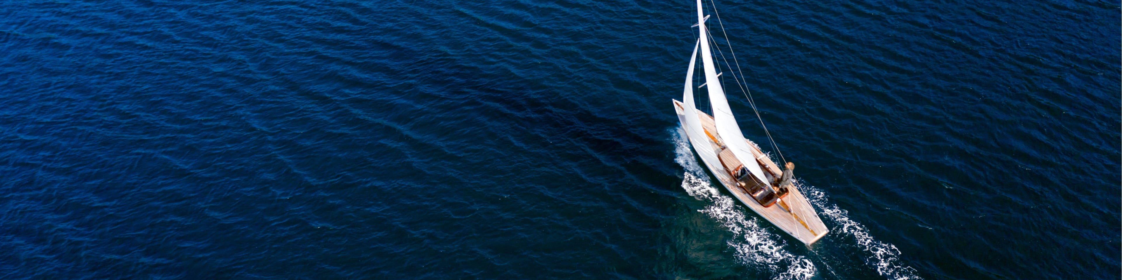 Classic sail boat in the sea