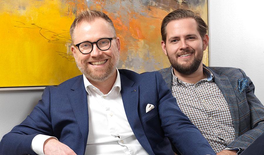 Håkan Bäckström och Oscar Stampe