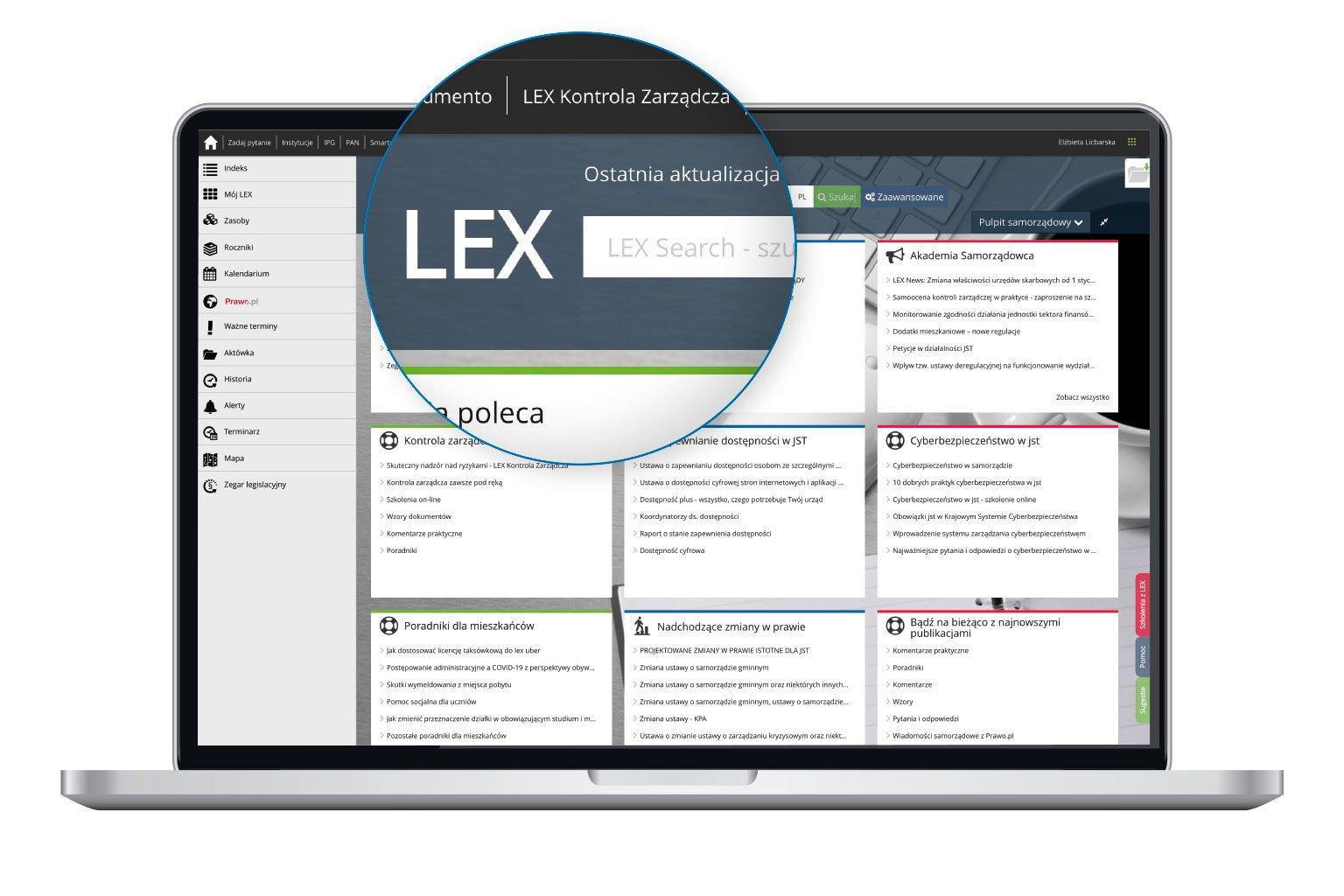 LEX Search w LEX Administracja
