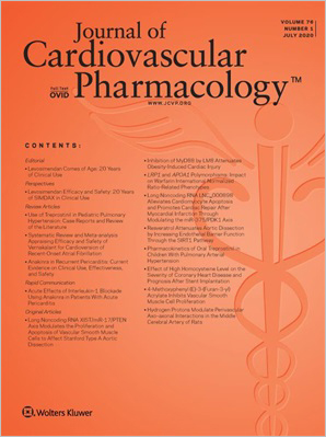 Journal of Cardiovascular Pharmacology