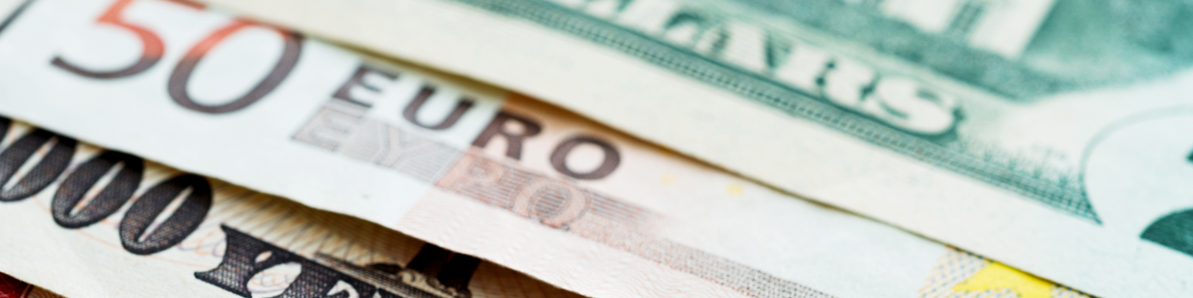 dollar euro yen bills