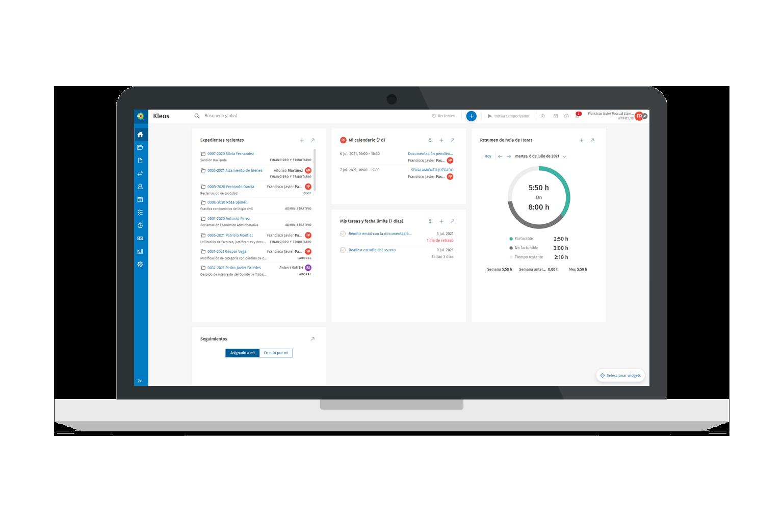 Kleos Time Management ES | Software para abogados siempre actualizado