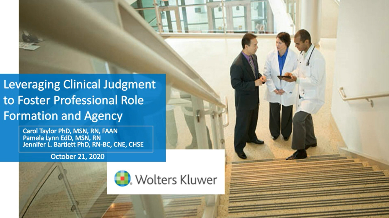 Screenshot of Leveraging clinical judgment to foster professional role formation and agency video