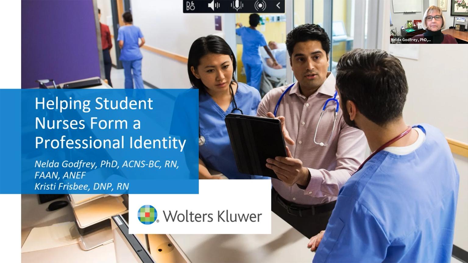 Screenshot of Helping student nurses form a professional identity video