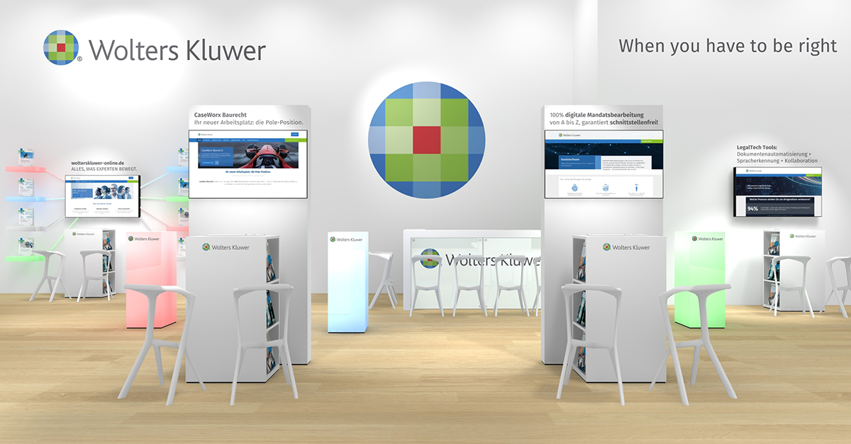 Messestand Wolters Kluwer Expo