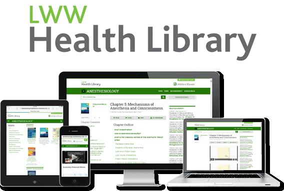 LWW Health Library device screenshot