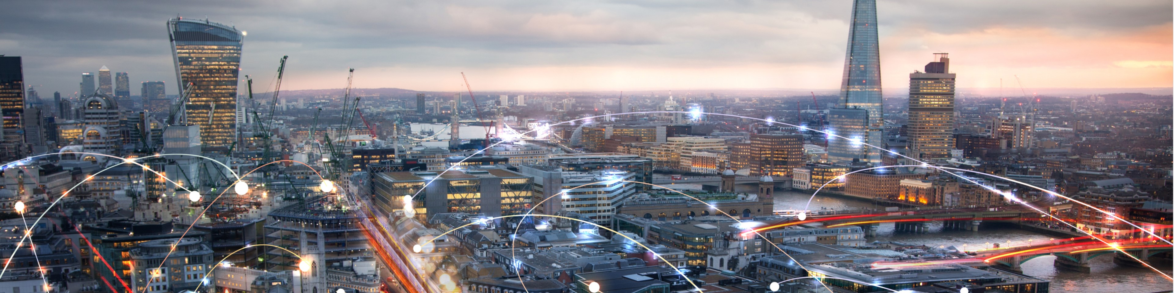 City of London sunset connections network