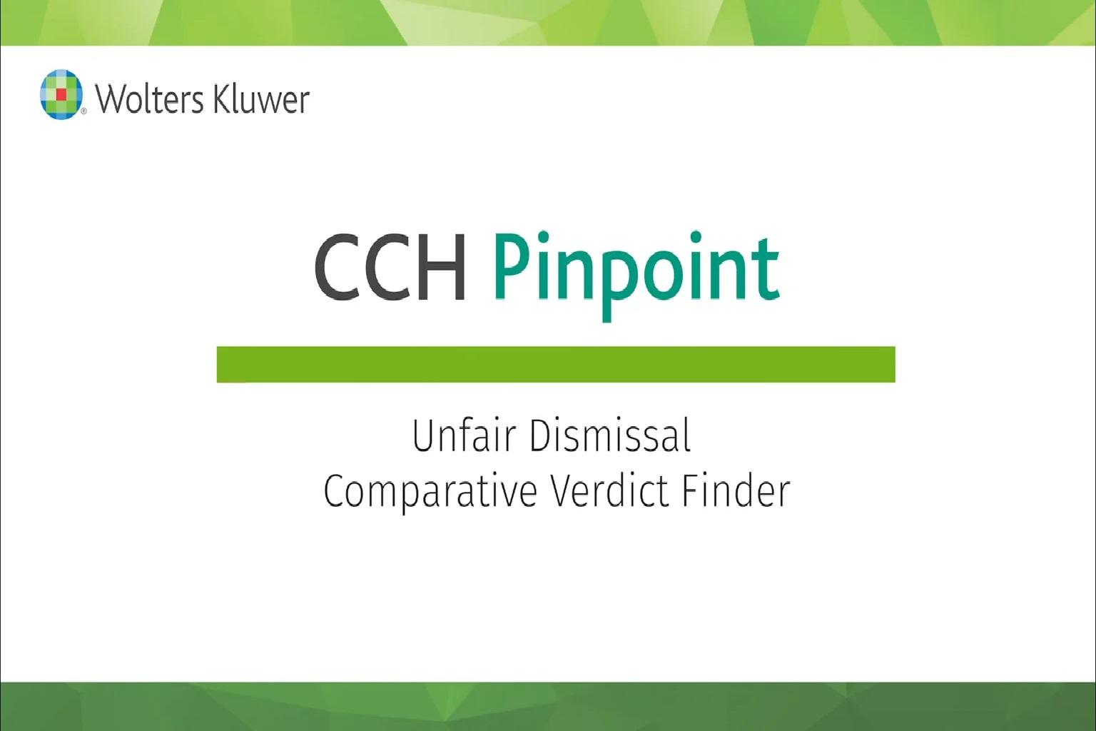 Unfair Dismissal – Comparative Verdict Finder
