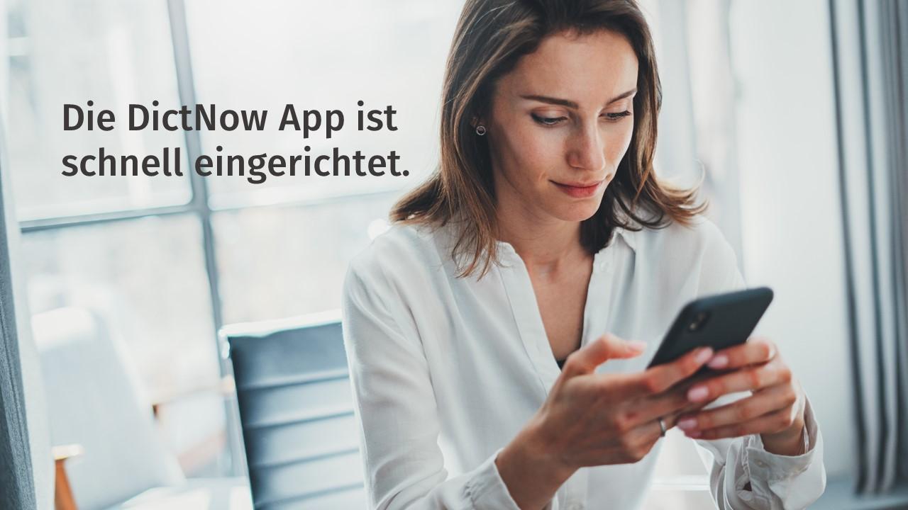 Video DictNow App einrichten