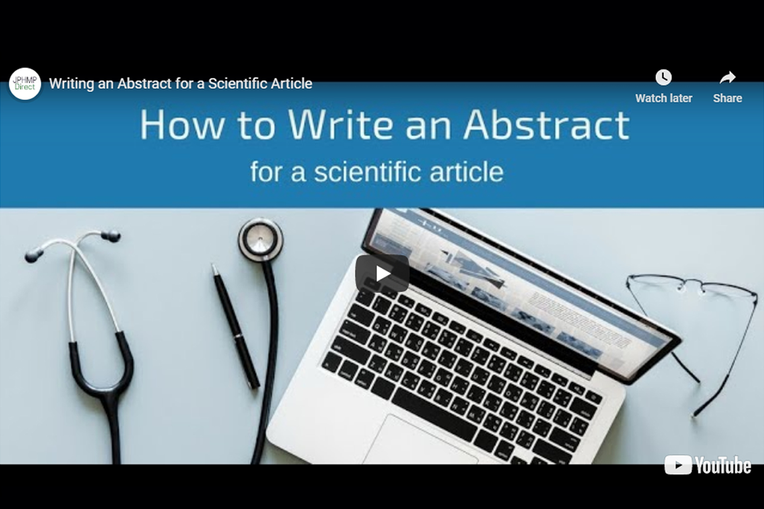 Screenshot of How to write the abstract section video