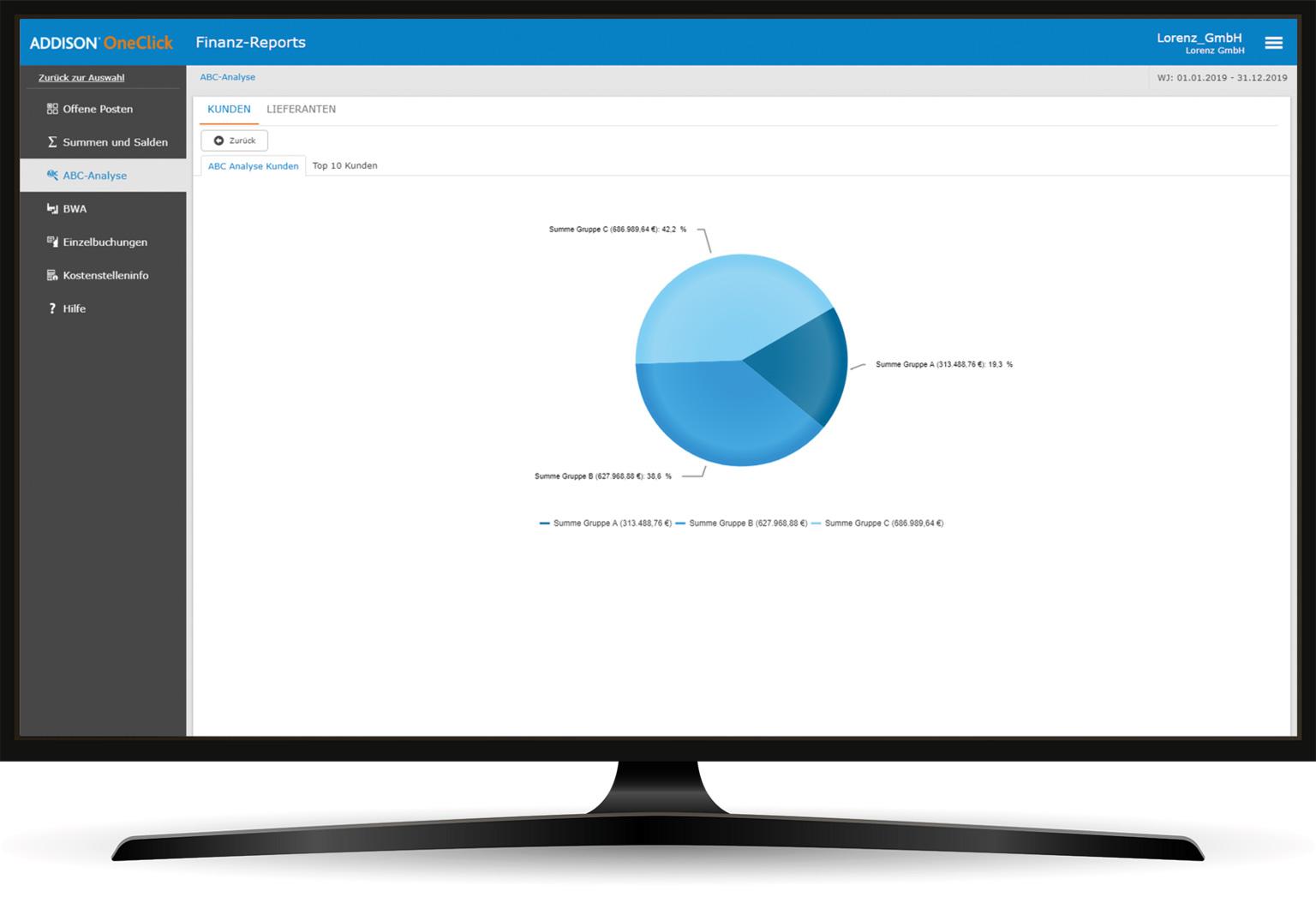 ADDISON OneClick Finanz-Reports