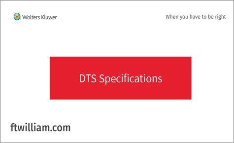 DTS Specifications