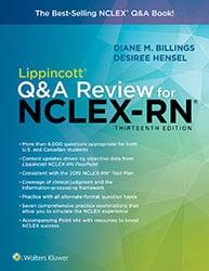 Lippincott Q&A review for NCLEX-RN book cover