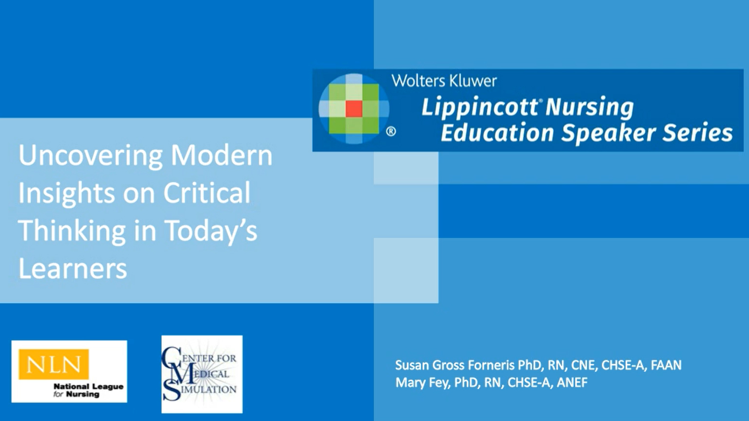 Screenshot of Uncovering modern insights on critical thinking in today's learners video