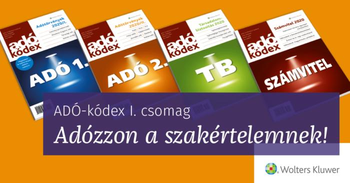 ADÓ-kódex I csomag - Adózzon a szakértelemnek!